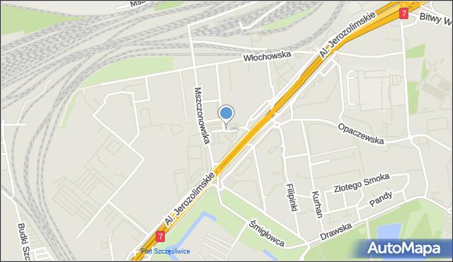 Warszawa, Kołomyjska, mapa Warszawy
