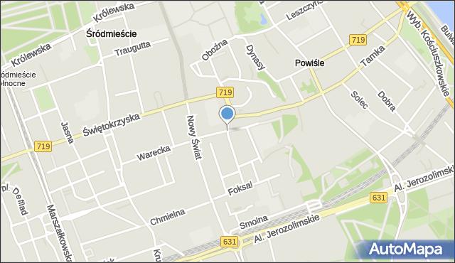 Warszawa, Kopernika Mikołaja, mapa Warszawy