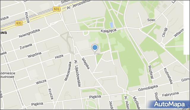 Warszawa, Konopnickiej Marii, mapa Warszawy