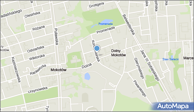 Warszawa, Konduktorska, mapa Warszawy