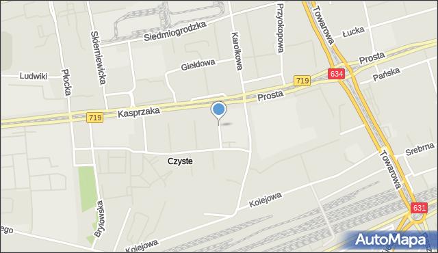 Warszawa, Korczaka Janusza, mapa Warszawy