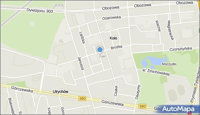 Warszawa, Koszycka, mapa Warszawy