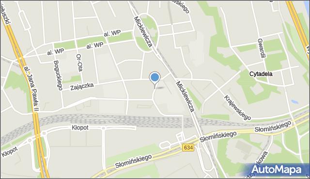 Warszawa, Kokarda, mapa Warszawy