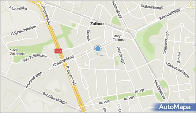 Warszawa, Kossaka Juliusza, mapa Warszawy