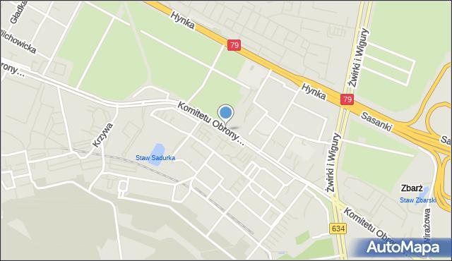 Warszawa, Komitetu Obrony Robotników, mapa Warszawy