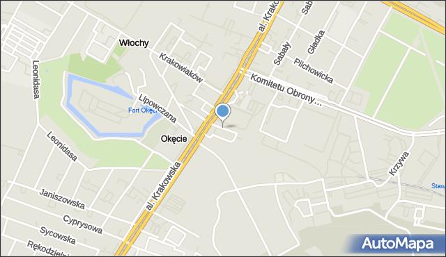 Warszawa, Kotwiczna, mapa Warszawy