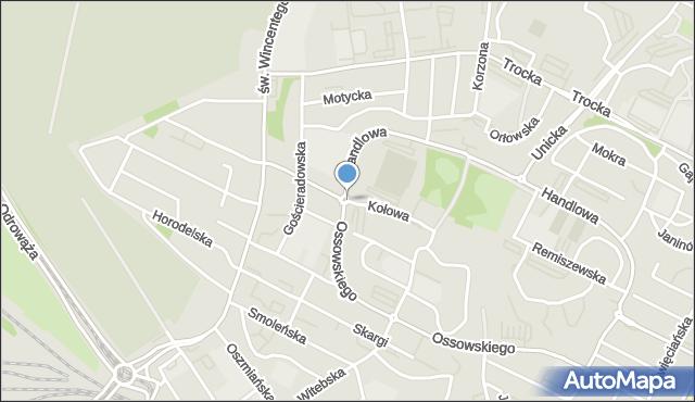 Warszawa, Kołowa, mapa Warszawy
