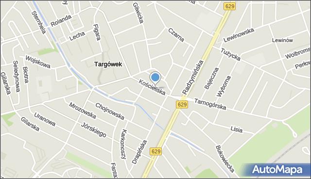 Warszawa, Kościeliska, mapa Warszawy