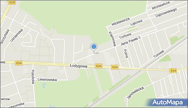 Warszawa, Konarowa, mapa Warszawy