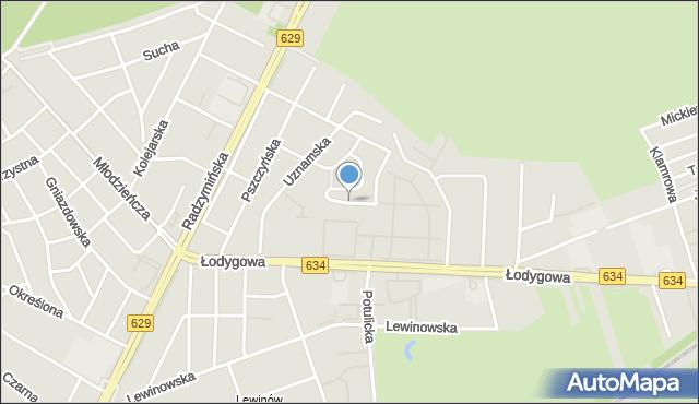 Warszawa, Korsarska, mapa Warszawy