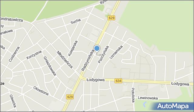 Warszawa, Kokoszków Jadwigi i Witolda, mapa Warszawy