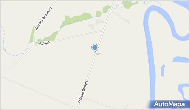 Wizna, Kolonia Struga, mapa Wizna