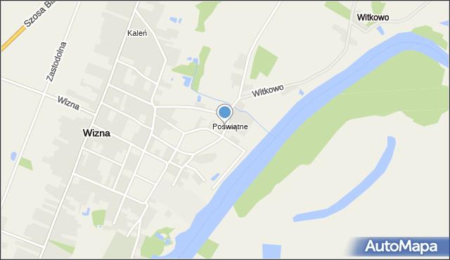 Wizna, Kopernika Mikołaja, mapa Wizna