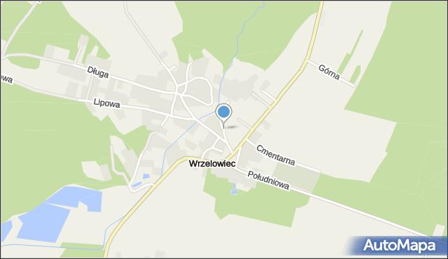 Wrzelowiec, Kościelna, mapa Wrzelowiec