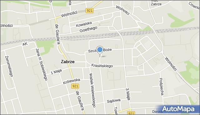 Zabrze, Kobylińskiego Stanisława, mapa Zabrza