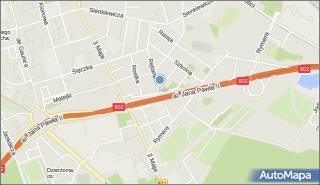 Zabrze, Kolejowa, mapa Zabrza