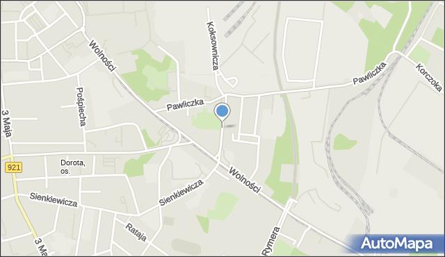 Zabrze, Końcowa, mapa Zabrza