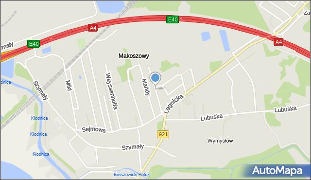 Zabrze, Kordeckiego Augustyna, przeora, mapa Zabrza