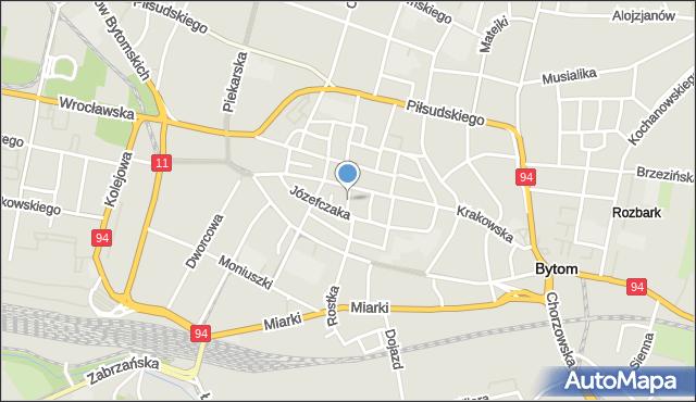 Bytom, Krawiecka, mapa Bytomia