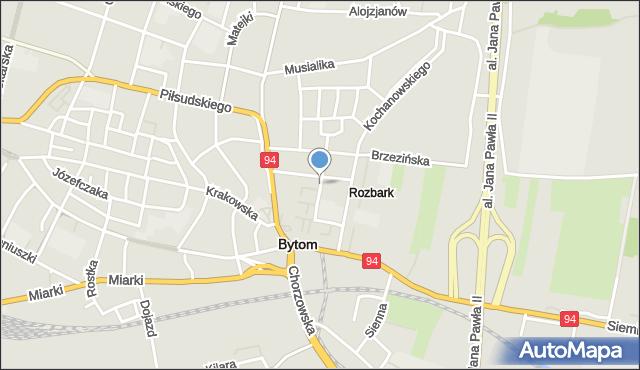 Bytom, Królowej Jadwigi, mapa Bytomia