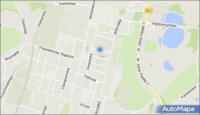 Bytom, Krucza, mapa Bytomia