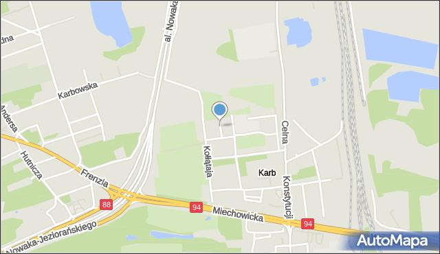Bytom, Krańcowa, mapa Bytomia
