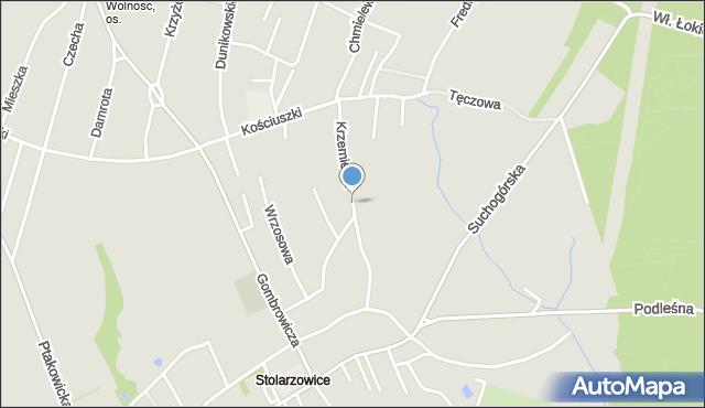 Bytom, Krzemienia, mapa Bytomia
