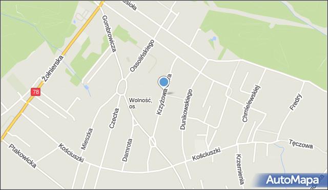 Bytom, Krzyżowa Góra, mapa Bytomia