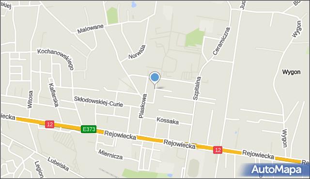 Chełm, Kraszewskiego Józefa Ignacego, mapa Chełma