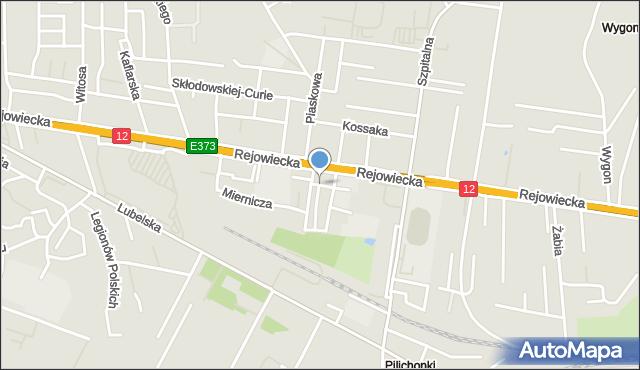 Chełm, Krucza, mapa Chełma