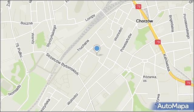 Chorzów, Króla Bolesława Chrobrego, mapa Chorzów