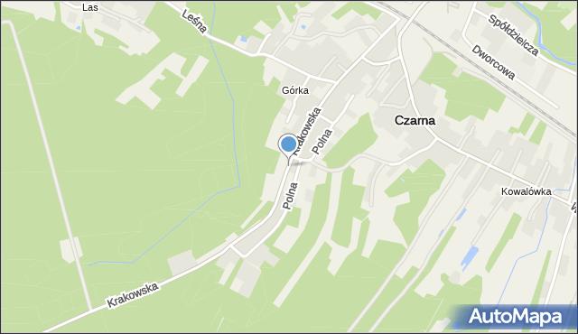 Czarna powiat dębicki, Krakowska, mapa Czarna powiat dębicki