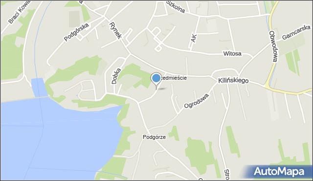 Dobczyce, Królowej Jadwigi, mapa Dobczyce