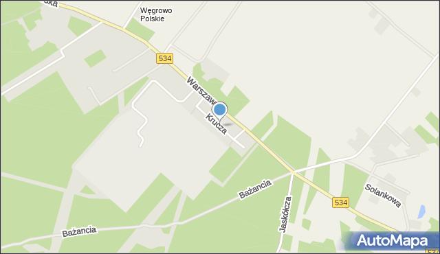 Grudziądz, Krucza, mapa Grudziądza