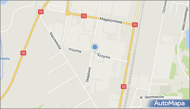 Grudziądz, Krzycha, por., mapa Grudziądza
