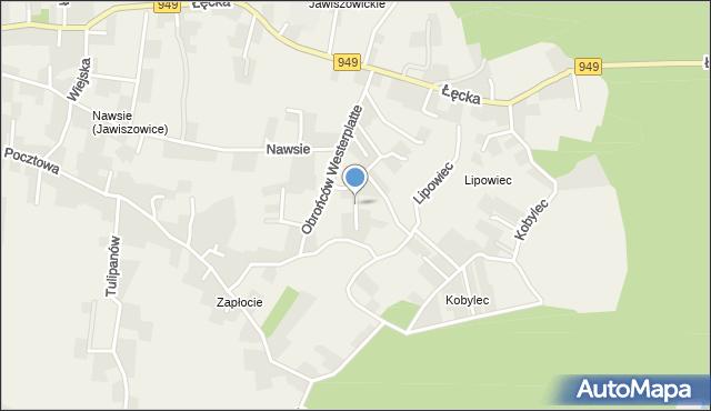 Jawiszowice, Krzywa, mapa Jawiszowice