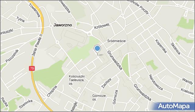 Jaworzno, Krasickiego Ignacego, bp., mapa Jaworzno
