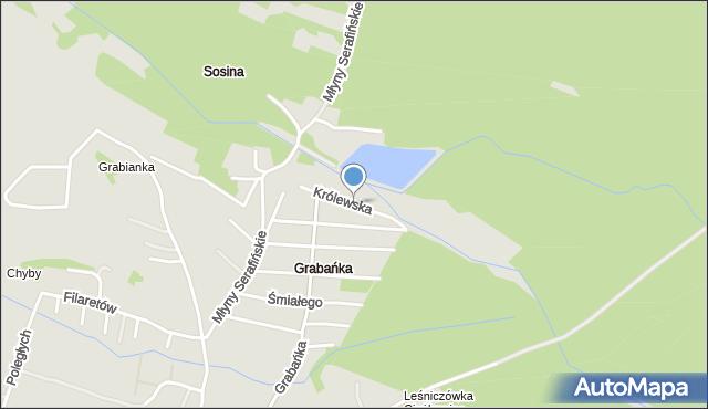 Jaworzno, Królewska, mapa Jaworzno