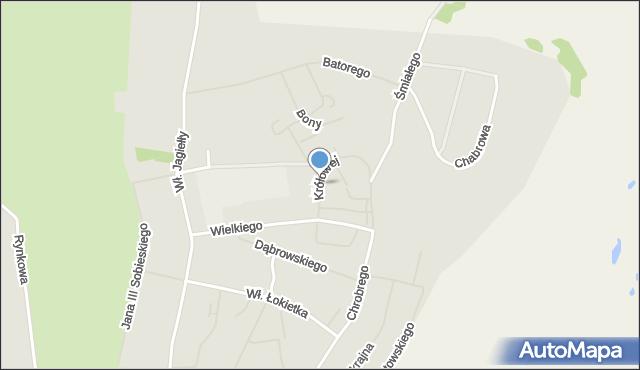 Kętrzyn, Królowej Jadwigi, mapa Kętrzyn