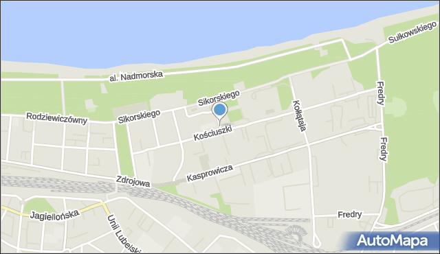 Kołobrzeg, Krakusa i Wandy, mapa Kołobrzegu