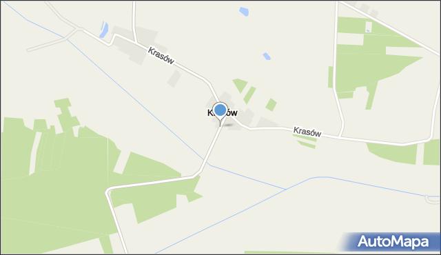 Krasów gmina Radków, Krasów, mapa Krasów gmina Radków