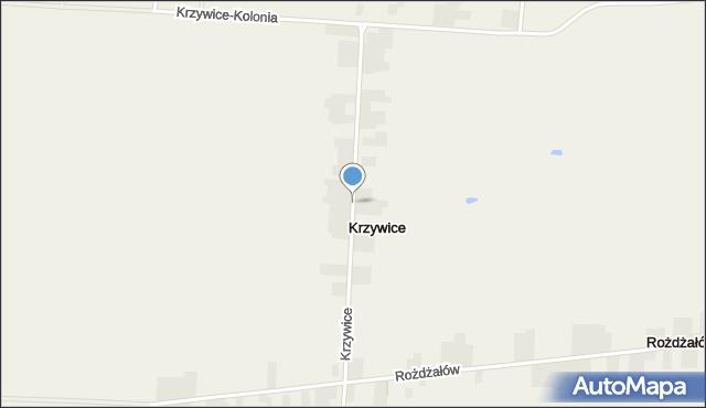 Krzywice gmina Chełm, Krzywice, mapa Krzywice gmina Chełm
