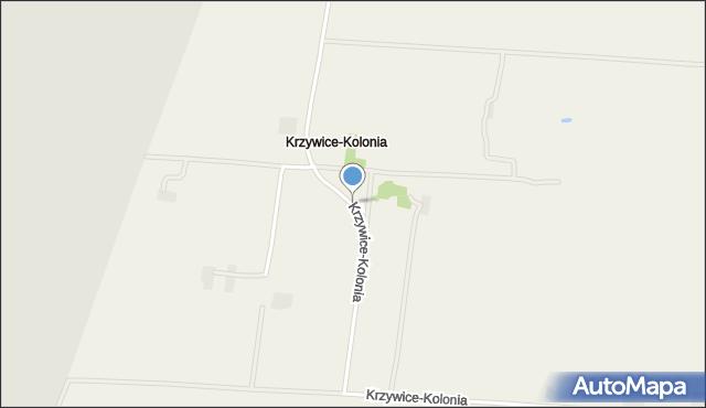 Krzywice-Kolonia, Krzywice-Kolonia, mapa Krzywice-Kolonia