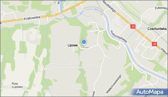 Limanowa, Króla Władysława Łokietka, mapa Limanowa