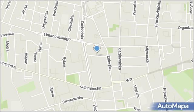 Łódź, Krótka, mapa Łodzi