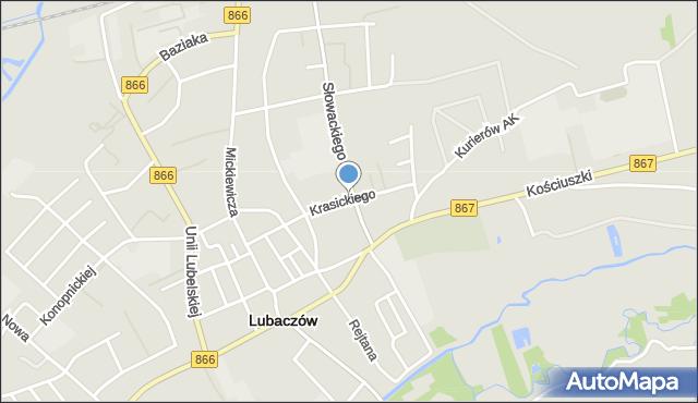 Lubaczów, Krasickiego Ignacego, bp., mapa Lubaczów