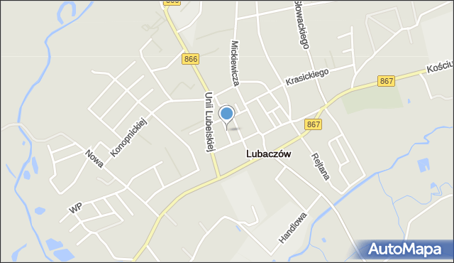 Lubaczów, Króla Kazimierza Wielkiego, mapa Lubaczów