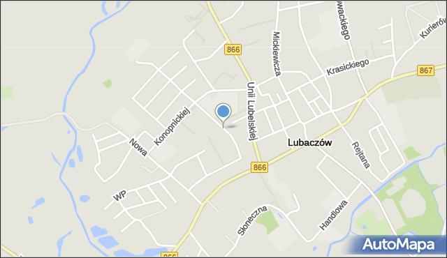 Lubaczów, Króla Władysława Jagiełły, mapa Lubaczów