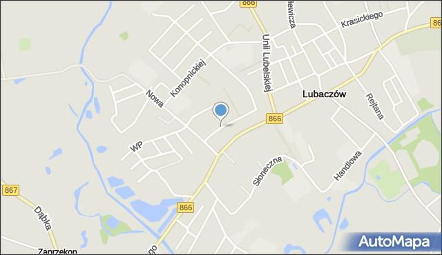 Lubaczów, Króla Władysława Łokietka, mapa Lubaczów