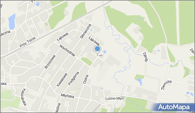 Luzino, Krótka, mapa Luzino